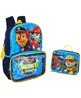 Paw Patrol Backpack with Lunchbox