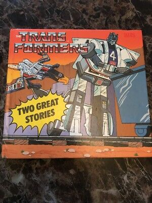 Transformers Hardback First Printing Hasbro 1986 Book Two Great Stories