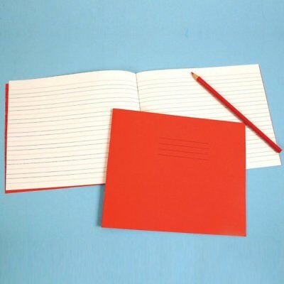 "Red 6x8"" Handwriting Book 40-Page - 4/16mm Ruled"