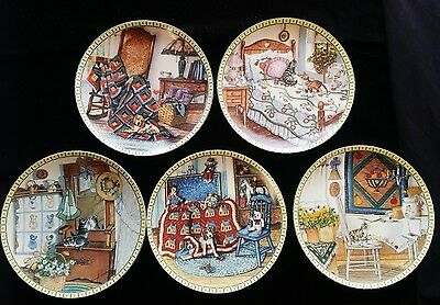 Lot 5 Knowles Hannah Hollister Ingmire Art Cozy Country Corners Collector Plate