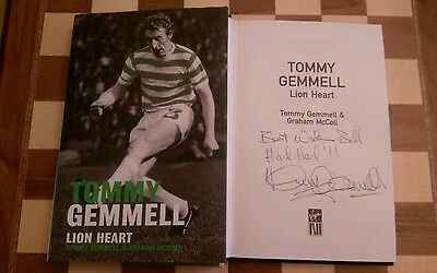 Tommy Gemmell Lion Heart The Autobiography SIGNED Hardback Book 2004 1st/1st