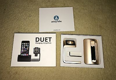 Antsy Labs Duet Dock for Iphone Apple Watch (Gold)