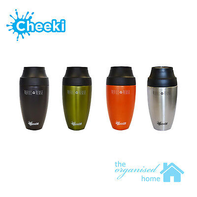 Cheeki Stainless Steel Insulated Coffee Travel Mug 350ml