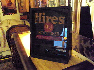 1920's-30's Hires Root Beer Soda Antique Advertising Cabinet -Sign SUPER RARE!!
