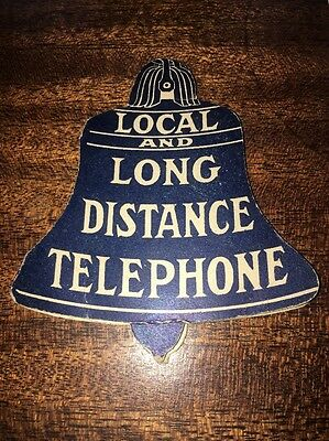 Needle Holder Telephone Advertisement Bell Shaped Central Union Telephone Co.