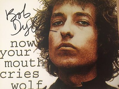 Authentic Bob Dylan Hand Signed autographed photo 8 x 10 w COA