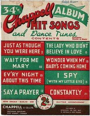 Chappell Hit Songs And Dance Tunes Sheet Music Piano Vocal Guitar Ukulele Banjo