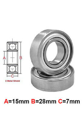 AT Stainless Steel Bearing MS 15X28X7 mm Metal Seal (S6902ZZ)