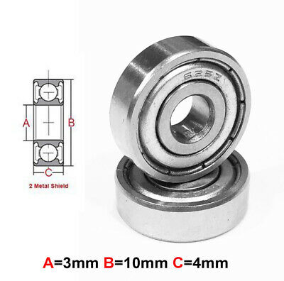 AT Stainless Steel Bearing MS 3X10X4mm Metal Seal (S623ZZ)