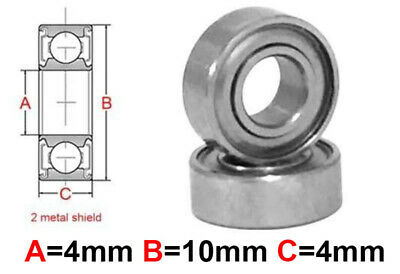 AT Stainless Steel Bearing MS 4x10x4mm Metal Seal (SMR104ZZ)