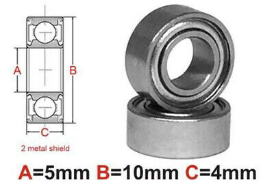 AT Stainless Steel Bearing MS 5x10x4mm Metal Seal (SMR105ZZ)