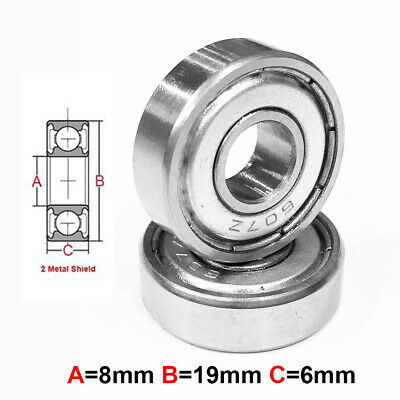 AT Stainless Steel Bearing MS 8x19x6mm Metal Seal (S698ZZ)
