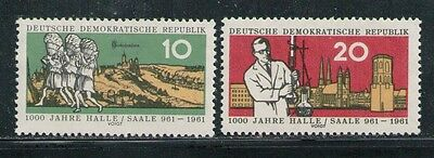 ALEMANIA/RDA EAST GERMANY 1961 MNH SC.558/559 Halle