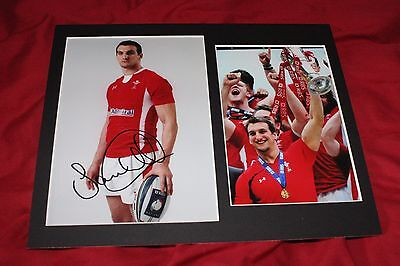 Genuine Hand Signed Sam Warburton Wales Rugby Photo Mount - PROOF