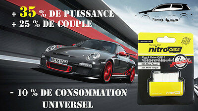 Boitier Additionnel Obd2 Chip Puce Essence Volkswagen Polo 6N2 1.4 16V 75 Cv