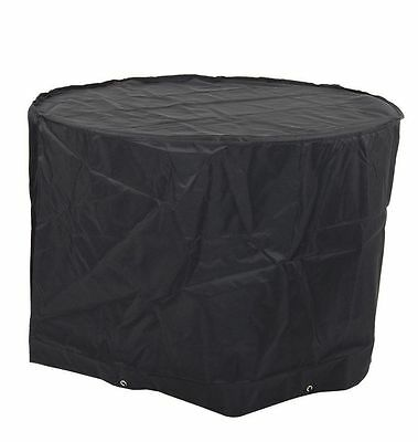 HEAVY DUTY Kettle Barbecue BBQ Black Cover for Large Garden BBQ's D75cm x H100cm