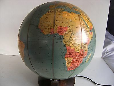 "VINTAGE ILUMINATED 10"" 'GEORAMA' GLOBE GEORGE  PHILIPS LONDON CIRCA 1950's"