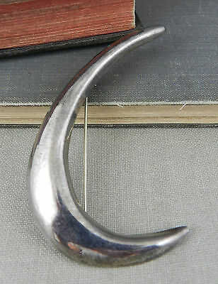 Taxco Mexico Modernist Sterling Silver Curved Swoosh Pin / Brooch