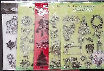 Habico - Clear Unmounted Stamp set - Choices : Christmas