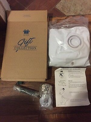 New Avon Gift Collection Mr. Snowglow Light-Up Inflatable Snowman, Nib