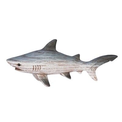 New Beachcombers Resin Carved Wood Look Shark