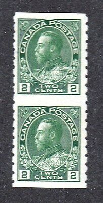 VC55 CANADA 128a VERTICAL IMPERFORATE PAIR, MINT, OG, NH, VF $60.00 RETAIL1922