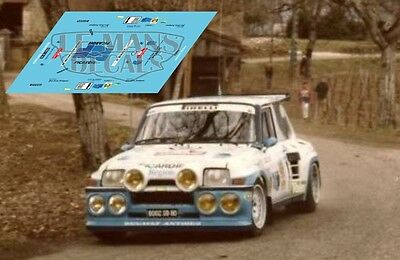 Calcas Renault 5 Maxi Turbo Rally Quercy 1986 1 1:32 1:43 1:24 1:18 decals