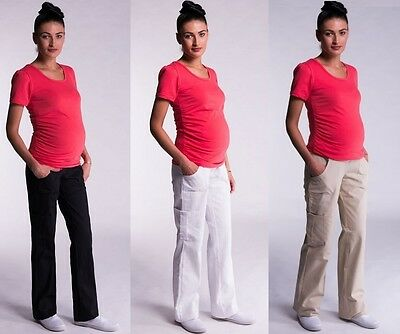 Maternity Cargo Trousers Pregnancy Combat Pants Over Bump Size 8 10 12 14 16 18