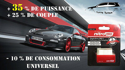 Boitier Additionnel Puce Chips Obd2 Tuning Mercedes C 200 Cdi 102 Cv