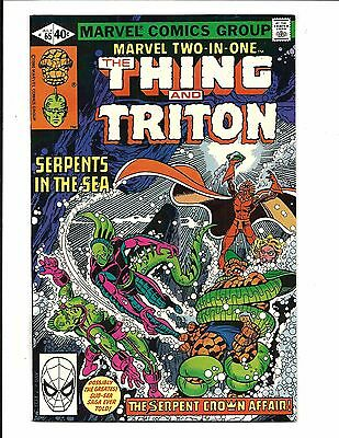 MARVEL TWO IN ONE # 65 (THE THING & TRITON, Cents Issue, JULY 1980), NM