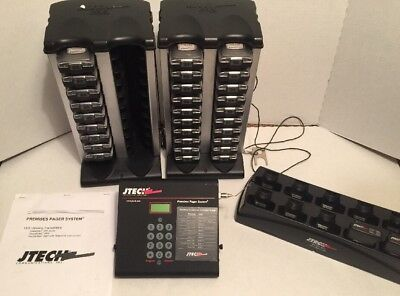 JTECH 2600 Pager System 31 Pagers 3 Chargers and 3 Transmitters Huge Lot