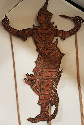 Indonesian Leather Stick Shadow Puppet