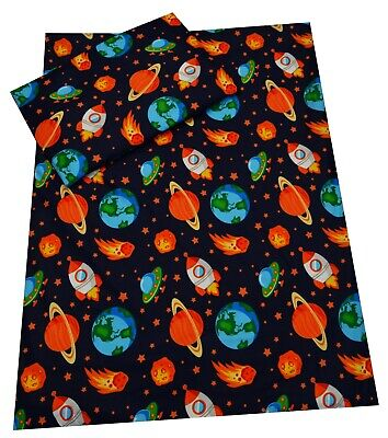 SPACE SHIPS ROCKETS Children's bedding Cover/Pillowcase/Bumper/Curtains/Duvet
