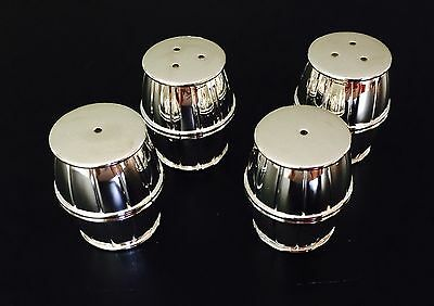 Salt and Pepper Barrel Silver Plate Shaker Set of 2-New In Box H x 4cm W x 3cm