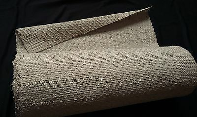 rare old heavy handwoven German linen bale 12 yards upholstery