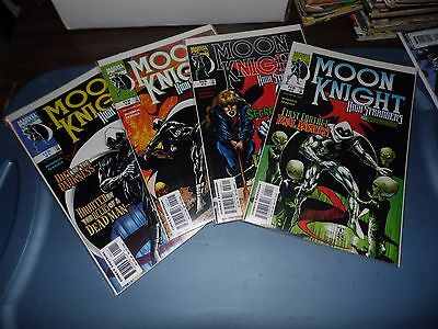Moon Knight High Strangers #1 #2 #3 and #4 complete mini-series!  Sharp!