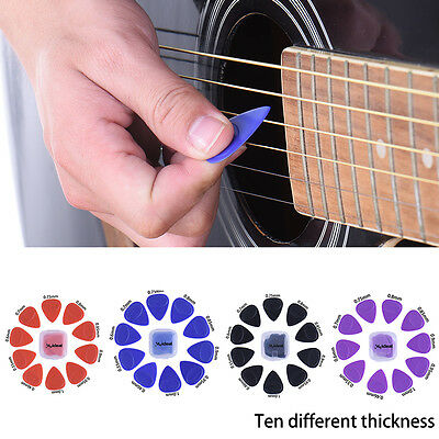 10X Guitar Picks Plectrums Acoustic Electric Bass plectrums Pick Gauges Non Slip