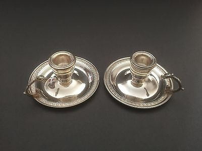 Pair Of Vintage Egyptian 900 Silver Candlesticks