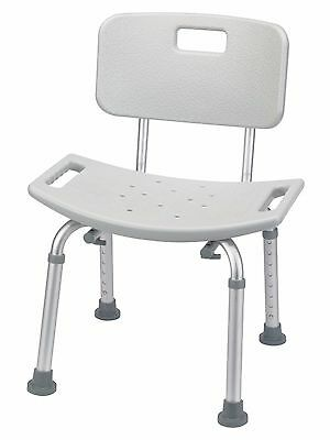 Mobilease Shower Chair with Back Rest - 8 height - bath tub stool backrest
