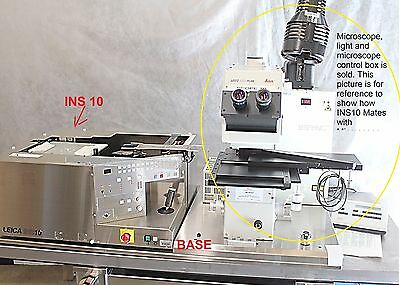 Leica INS 10 Wafer Loader for Leica Leitz Ergoplan 8 Inch Inspection Microscope