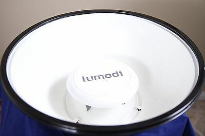 """Lumodi 14"""" Speedlight White Beauty Dish with Diffuser -  Made in the USA"""