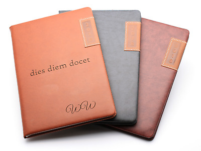 Personalised Diary Organiser 2018 Italian Panel Leatherette Week to View | Gift