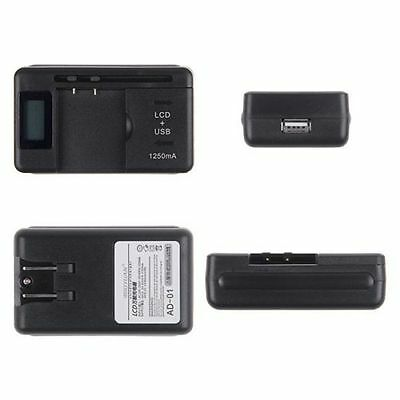 New Universal Battery Charger Digital Lcd Plus Usb Charging Port For Casio Usa