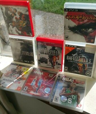 PS3 Games LOT of 10 - God of War, Street Fighter 4, Medal Of Honor, Battle Field