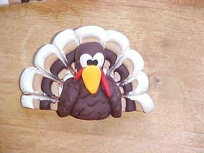 Cute Turkey Pin Great For Any Holiday Or Turkey Lover! Polymer Clay