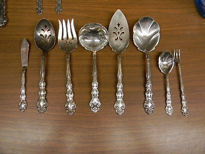 """8 Oneida Silver Plate """"beethoven"""" Pattern Serving Pieces"""