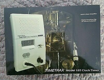 Timetrax 185 Electronic Timing Machine, Beat Amp, pickup Watch Clockmakers tool