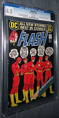 The Flash #217 CGC 6.5 White pages  - Denny O'Neil Neal Adams Green Lantern!