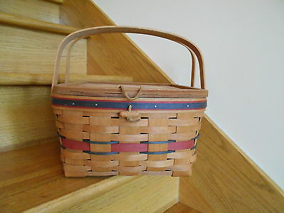 Longaberger Crisco American Pie Basket 1991 signed Rich Joanne *free shipping!*