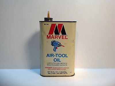 Vintage Marvel Air Tool Oil handy oiler can rare metal gas old auto Home old